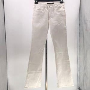 Joe's jeans mid rise bootcut jeans white sz 28